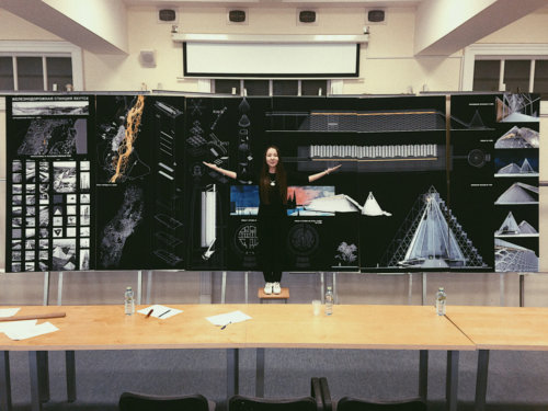 Планшеты 100х200 см с накаткой на 5-слойный гофрокартон для дипломников МАрхИ