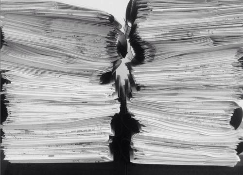 Тома рабочей документации, сброшюрованные на черную пластиковую пружину