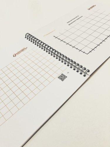 Брошюровка цветных документов формата А4 на металлическую черную пружину