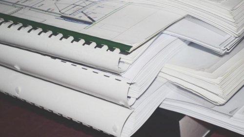 Рабочая документация, фальцовка в А4 и переплет на пластиковую пружину