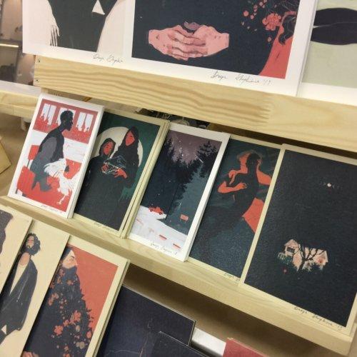 Печать квадратных открыток на дизайнерке 300 г/м2
