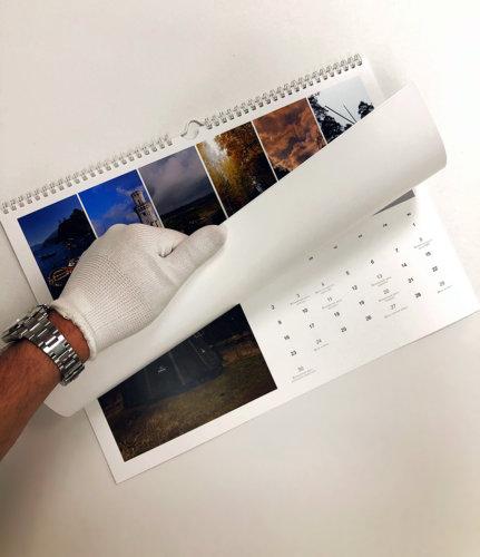 Календарь формата А3 на белой металлической пружине