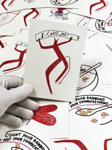 Цветные открытки формата А6 на шероховатой чистоцеллюлозной бумаге Колорплан 270 г/м2