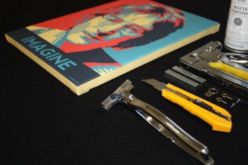 Печать холста 30х40 см с натяжкой на сосновый подрамник и покрытием лаком