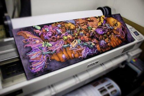 Печать холста 50х130 см с натяжкой на сосновый подрамник и покрытием лаком