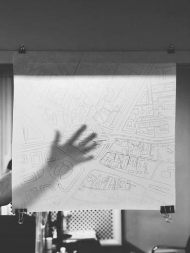 Черно-белая печать генплана формата 60х60 см на кальке Xerox плотностью 90 г/м2