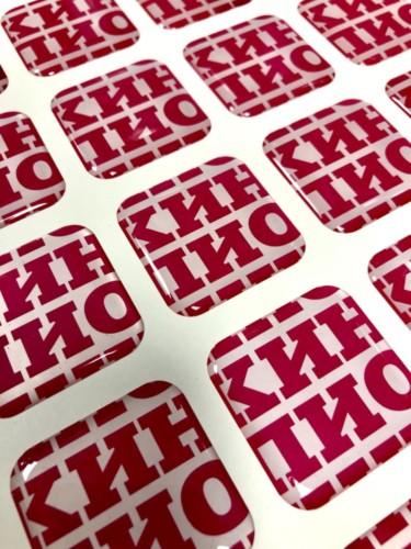 """Квадратные объемные наклейки из эпоксидной смолы для кинотеатра """"Пионер"""""""