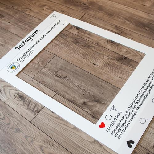 Инстаграм-рамка 60х90 см. Белый пенополистирол толщиной 5 мм, матовая бумага