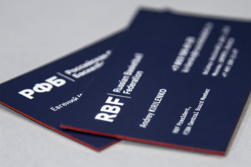 Трехслойные визитки с печатью шелкографией